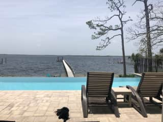 Infinity pool and dock with Stella