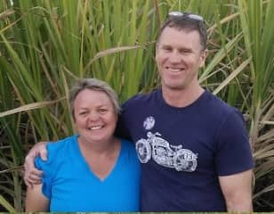 Megan & Trevor in the sugar cane in Queensland, Australia 2018