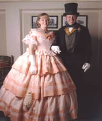 At the Plumas Count Sesquicentennial Ball in a ballgown I made.