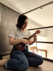 I love music and recently started learning the ukulele.
