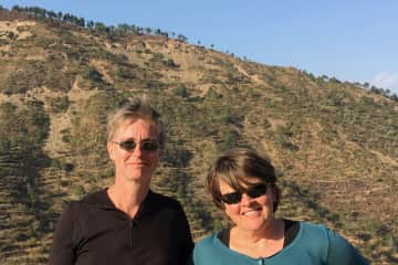 Lise and Marjan in India