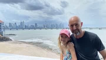 Hedy and Christian Panama City Skyline