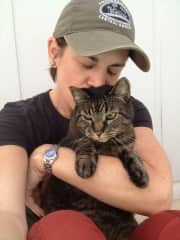 Me and Raz, former pet sitting baby