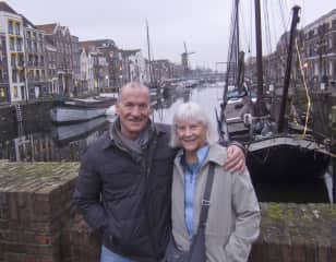 Us in Rotterdam for the holidays (2017). We traveled to visit our son and partner to celebrate the arrival of our first grandchild.