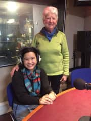 Myself and Úna-Minh when she was being interviewed for the Ray D'Arcy show about her book.