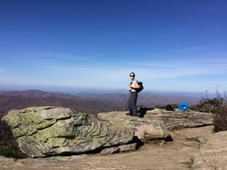 Hiking the Appalachian Trail with Sydney on my back!
