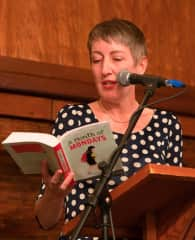 Me reading from one of my novels at Isle of the Arts 2017