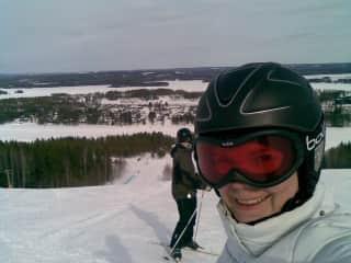 Enjoying winter sports