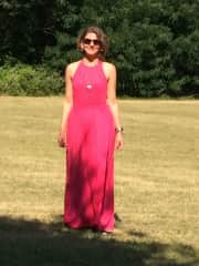 This is me at a recent summer wedding in the SW of France!