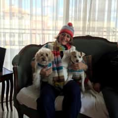 Christmas Day 2 years ago at my sisters house with REX AND Bou bou