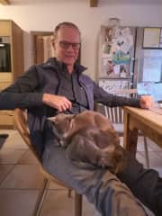 Cat Kailash and Kora with me, Bavaria 2021