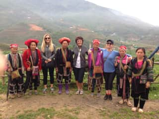 My girls and I in Vietnam.