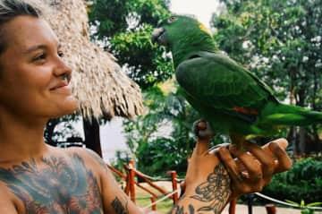 Made a friend at Laguna de Apoyo