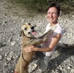 Francesca with Cape Verde dog