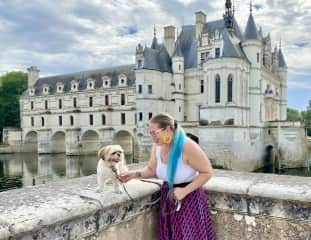 Castle scouting with Leroy in Loire Valley, France.