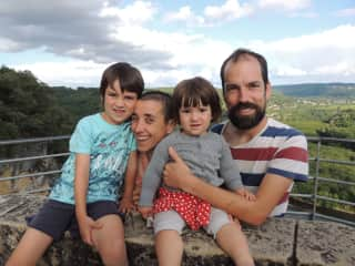 My family: My wife Mónica, and my children Manuel (6 years old) and Maia (2 years old)