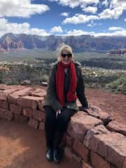 Me - Resting after a walk in Sedona USA