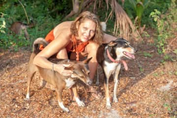 Baldrick, Mars and Jessie on pet sit in Colva, Goa, India