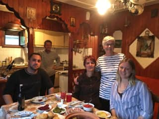 5/17, Serbian student with family.