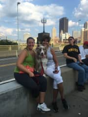 PNC Park/Pittsburgh: Pup night with my grand puppy and my daughter