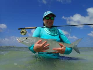 My first Bonefish, a whopping 75cm, Cocos Keeling Islands