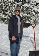 Enjoying the winter snow.