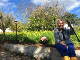 A rest in the garden