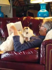 Julio and Pepe reading in Uruguay