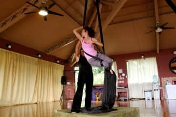Me doing acro yoga in Costa Rica!
