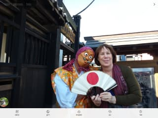 I like to travel. Me and a friend in a Japanese festival