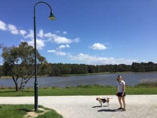 Dayl and Bonnie the beagle