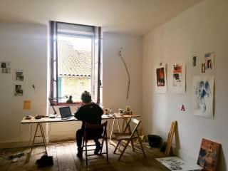 Artist studio/work space