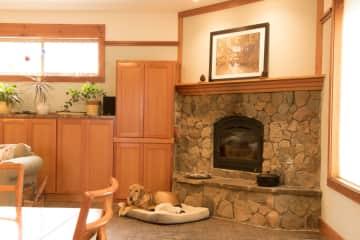 Fireplace and Mac