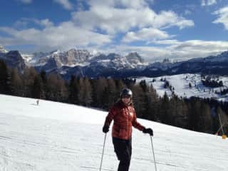 I am skiing in the Dolomites this Past January