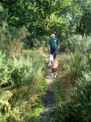 Pete with Sam & Nutmeg in Newbury