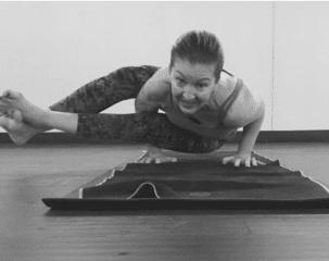 Sharon enjoys yoga