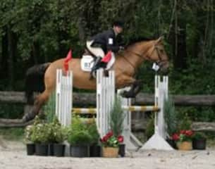 Competing on my horse Echo