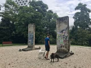 A visit with Blake and Pablo to fragments of the Berlin Wall in Singapore