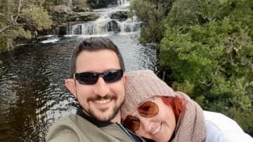 Jason and I on a short break in Cradle Mountain, Tasmania