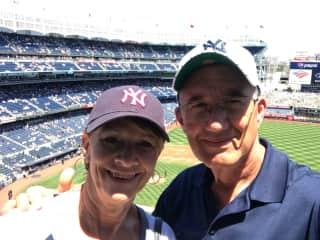 Bev and I at Yankee Stadium