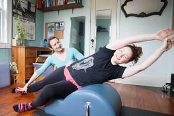I teach Pilates in my studio