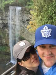 Me and my husband 2 years ago, chasing waterfalls near Hamilton, ON