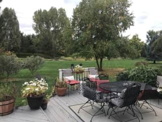Back yard from home deck