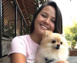 This is me and Teddy - my 6 year old Pomeranian