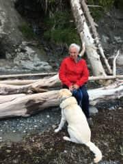 Bentley with John, Nanaimo, BC, June, 2016