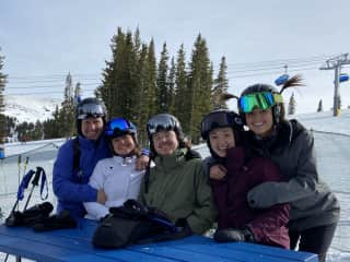 This is my family and me on a recent ski trip in Copper, CO. We enjoy spending time together, especially when it involves travel and outdoor activities!