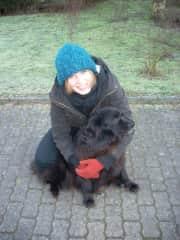 Franziska and her dog Maijka when she was young.