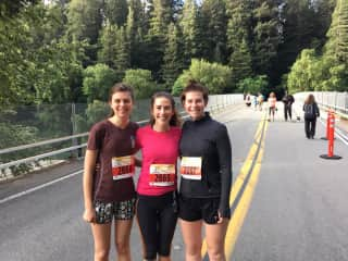 Right before running a half marathon through the Giant Redwoods in CA!