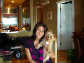 This is me and my little one, Angel, who passed away in 2014......the love of my life!!!