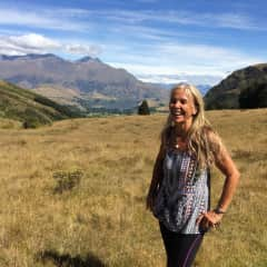 Robin enjoying the mountain tramping in NZ!